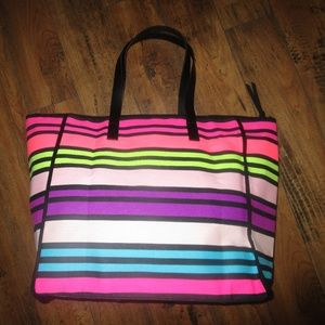NWT VICTORIA'S SECRET rainbow tote bag